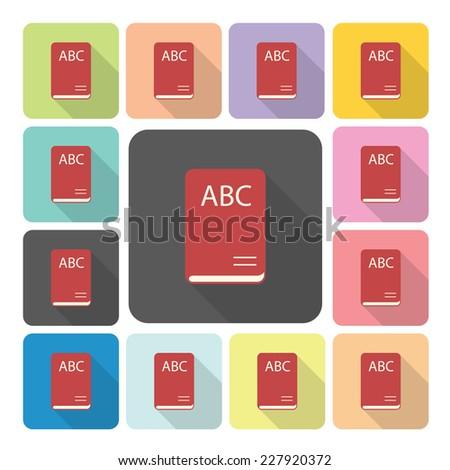 Book Icon color set vector illustration. - stock vector