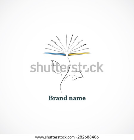 Book icon illustrated like a flower  - stock vector