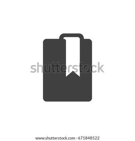 Book icon in black on a white background. Vector illustration