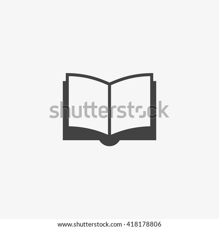 Book Icon in trendy flat style isolated on grey background. Education symbol for your web design, logo, UI. Vector illustration, EPS10. - stock vector