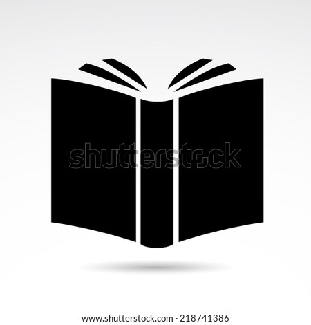Book icon isolated on white background. Vector art. - stock vector