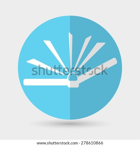 Book icon on a white background - stock vector