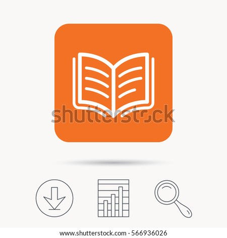 book icon study literature sign education stock vector  study literature sign education textbook symbol report chart and