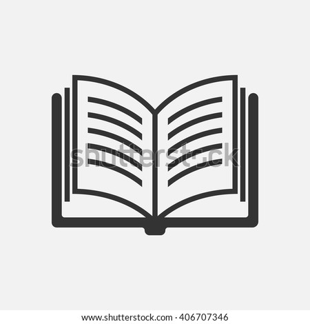 Book icon vector, solid illustration, pictogram isolated on white - stock vector