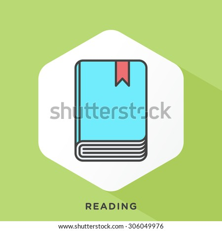 Book icon with dark grey outline and offset flat colors.