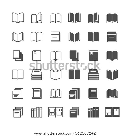 Book icons, included normal and enable state. - stock vector