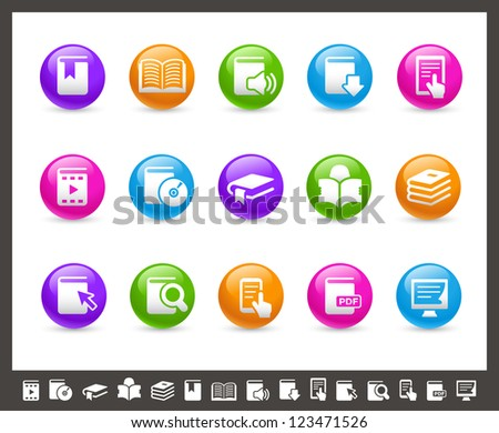 Book Icons // Rainbow Series - stock vector