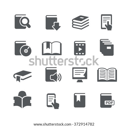 Book Icons // Utility Series - stock vector