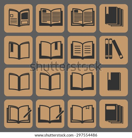 Book icons  vector illustration , icon set