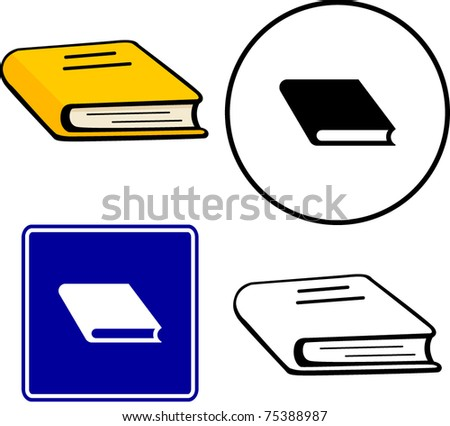 book illustration, sign and symbol - stock vector