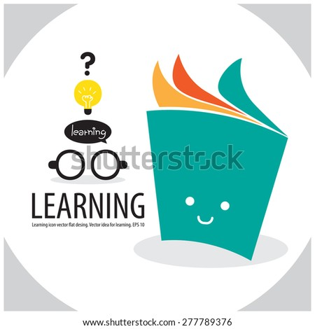book learning concept - stock vector