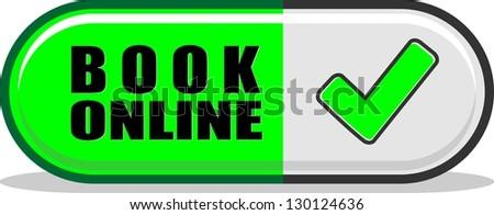 Book online - stock vector