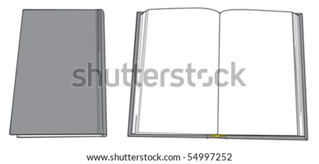 Book Open and close 1 - stock vector
