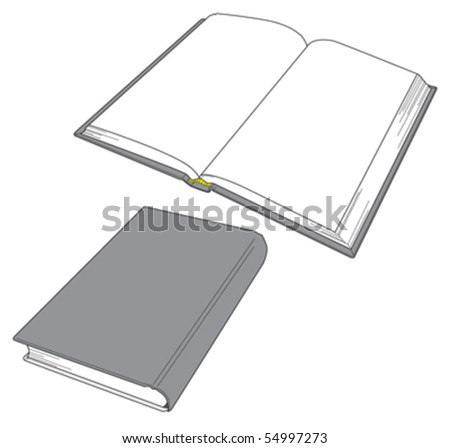 Book Open and close 3 - stock vector