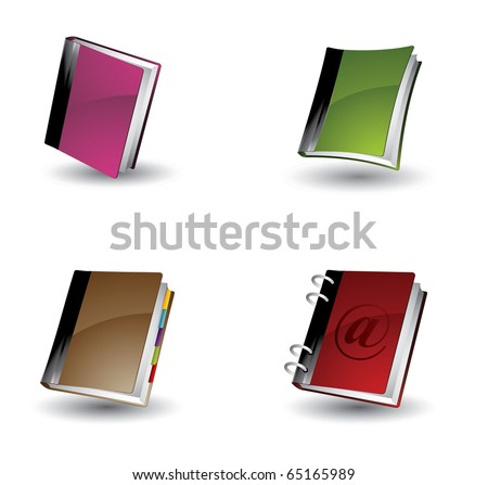 Book or blog icons - stock vector