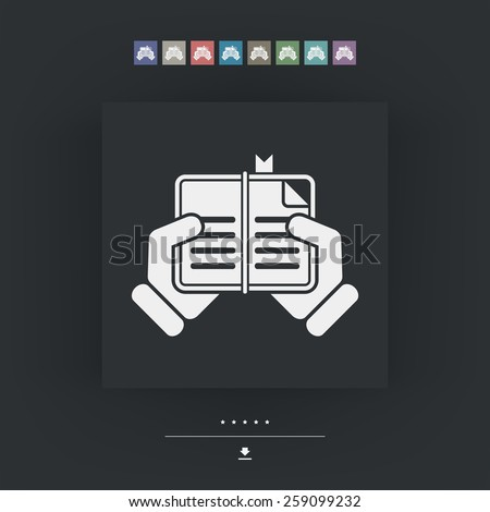 Book read icon - stock vector
