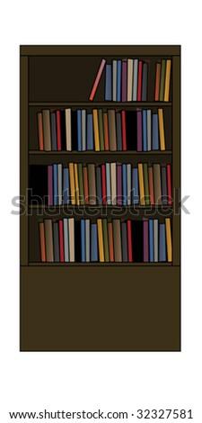 Book Shelf - stock vector