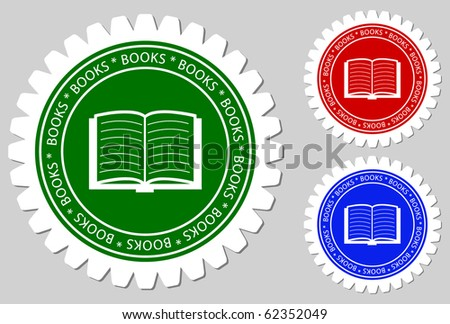 Book Sign Labels - stock vector