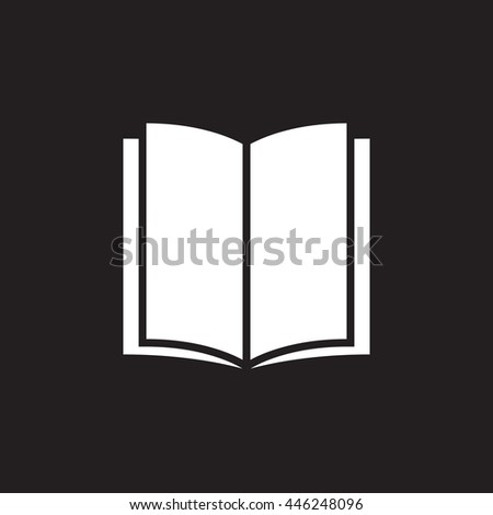 book solid icon, vector illustration, pictogram isolated on black