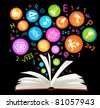 book symbol.The School of sciences - stock photo
