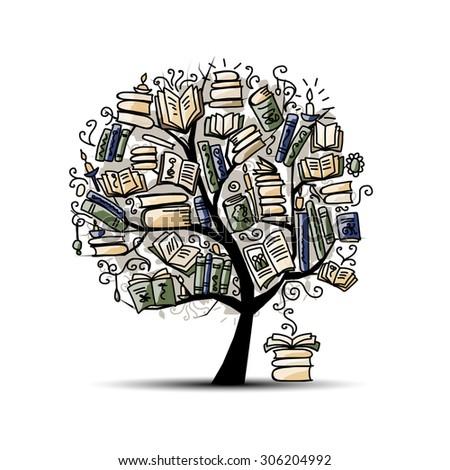 Resultado de imaxes para book tree