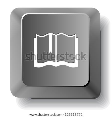 Book. Vector computer key. - stock vector
