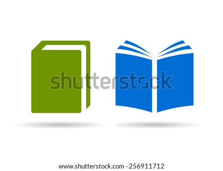 Book vector icons - stock vector