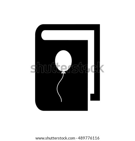Book vector illustration. Book icon with balloon symbol
