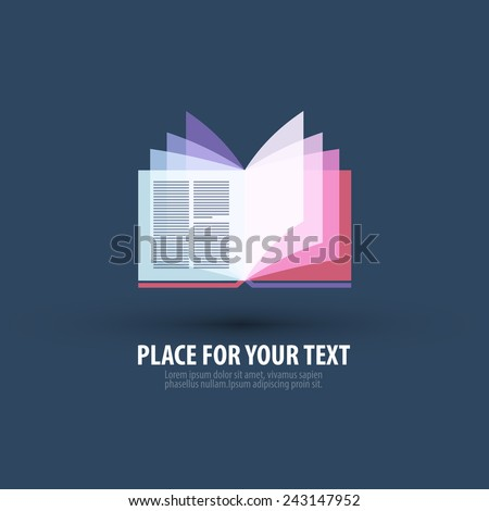 book vector logo design template. bookshop or literature icon. - stock vector