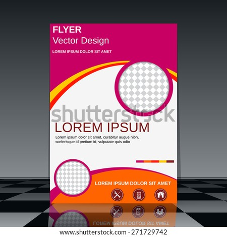 Booklet abstract design. Business flyer, brochure cover, poster, banner vector template. - stock vector