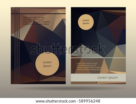 Booklet Layout Templates Promotion Page Design Stock Vector HD ...