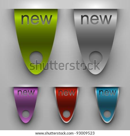 Bookmarks set - stock vector