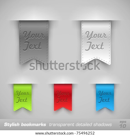 Bookmarks. Vector Illustration - stock vector
