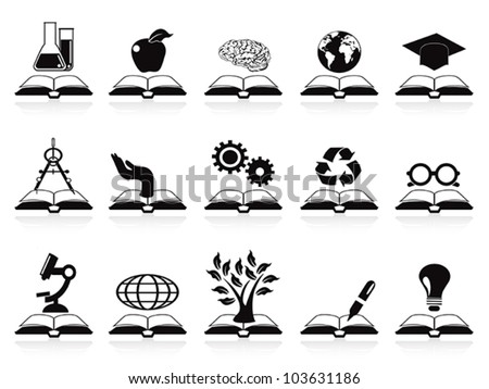books concept icons set - stock vector