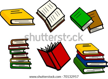 books illustrations set - stock vector