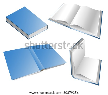 Books in different positions eps8 - stock vector