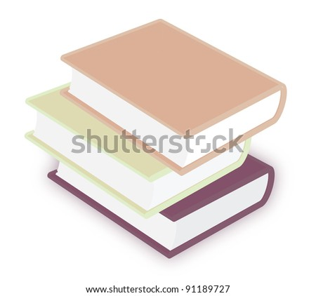 books  isolated on white background vector - stock vector