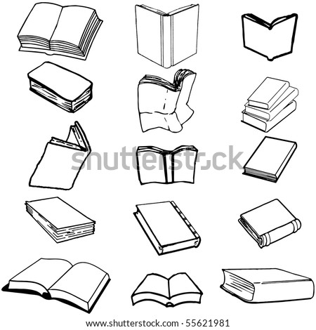 Books on isolated background, vector illustration, EPS file included