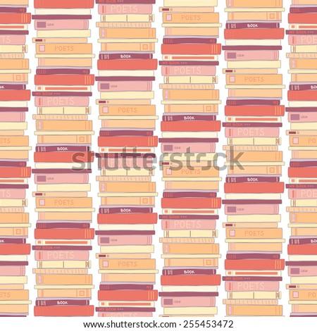 Books seamless pattern. Vector illustration eps10. - stock vector