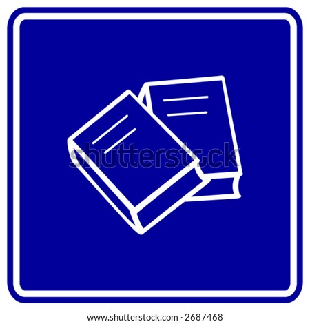 books sign - stock vector