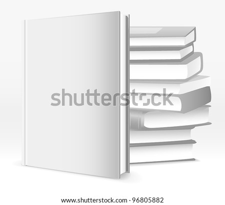 Books template - stock vector