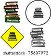 books tower - stock photo