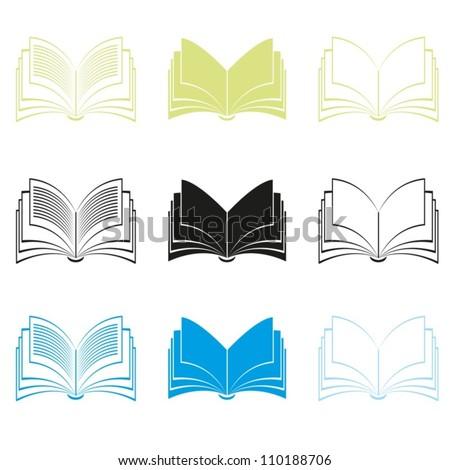 Books. Vector.  EPS-10 (non transparent elements,non gradient) - stock vector