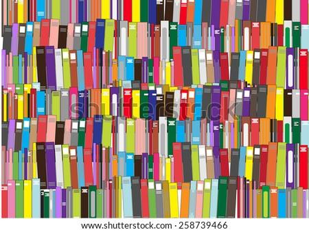 Books - vector illustration - stock vector