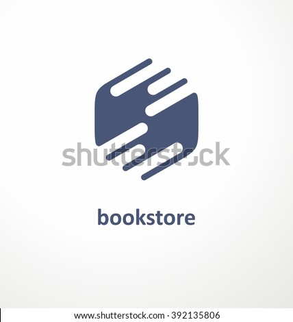 Bookstore creative symbol design. Logo design concept for book store or library. Vector illustration. Education concept. - stock vector