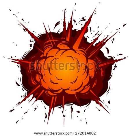 Boom. Bomb explosion. - stock vector