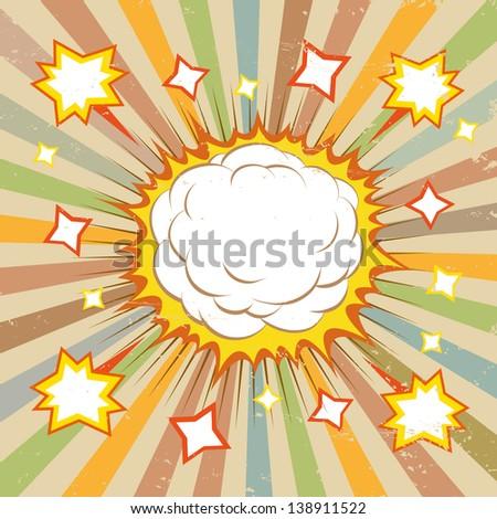 Boom comic book explosion, vector illustration - stock vector