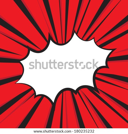 Boom comic book explosion, Vector illustration comic style - stock vector