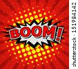 Boom! - Comic Speech Bubble, Cartoon - stock