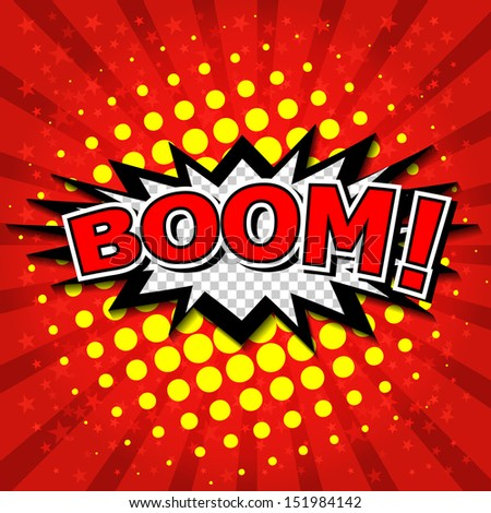 Boom! - Comic Speech Bubble, Cartoon - stock vector